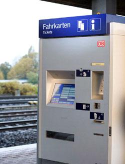 Die neuen Fahrkartenautomaten der DB für den Fernverkehr